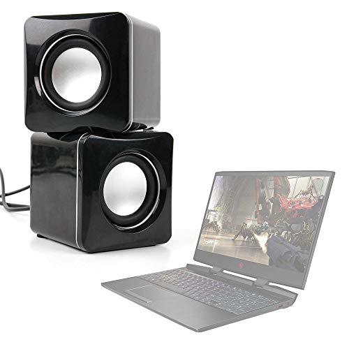 DURAGADGET Altavoces Compactos Compatible con Portátil ASUS ROG Strix G731GT-AU008, ASUS TUF Gaming FX705DD-AU017, HP OMEN 15-dc1013ns, MEDION ERAZER P6705 - Tamaño Mini - Conexión Mini Jack + USB