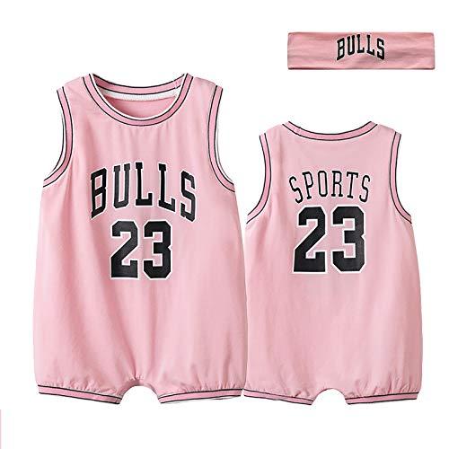 ZGRNB Aficionado a los Deportes Baby Basketball Jersey NBA Jumpsuit Creepers Verano Chicago Bulls 23 Stephen Curry 30 Kobe Bean Bryant 24 Cardigan Rompers S-XXXL