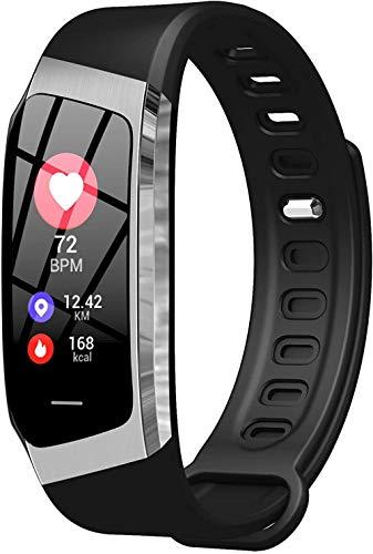 Reloj Conectado Mujeres Rose SmartWatch Deporte Podómetro Pulsera conectada Mujer Inteligente Cardio Frecuencia Color Impermeable Transparewatch Presión de Android iOS-Un Negro / Plata