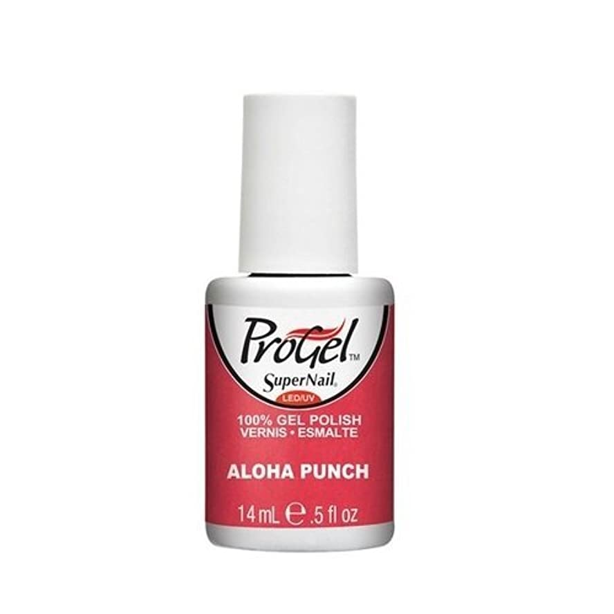 現代の実際のペンスSuperNail ProGel Gel Polish - Aloha Punch - 0.5oz / 14ml