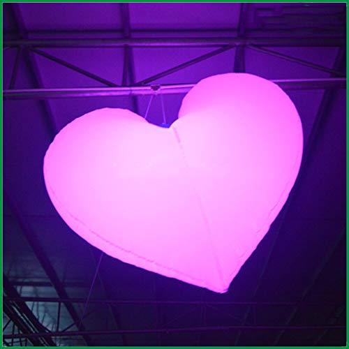 Hermosas Corazón Inflables Gigantes Románticas De 1 M con Luces LED, Que Se Pueden Usar para La Decoración del Día De San Valentín del Escenario del Evento De La Fiesta De Bodas