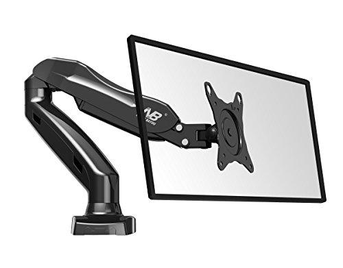 """Monitor-Tischhalter F80 Fuer Bildschirm, Monitor 17\""""-27\"""", 360° drehbar, schwankbar, hoehe stellbar"""