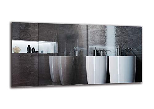 Spiegel Standard - Spiegel Rahmenloser - Spiegelmaßen 120x60 cm - Badspiegel - Wandspiegel - Badezimmer - Wohnzimmer - Küche - Flur - M1ST-01-120x60 - ARTTOR
