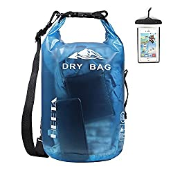 A waterproof dry bag commonly used while out hiking or camping in the elements.