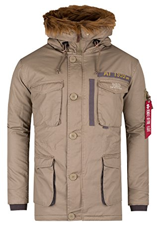 Alpha Industries Herren Jacke - Mountain Parka by Alpha 2014 Star MOD 16022 D.G, 14 sand, XXL
