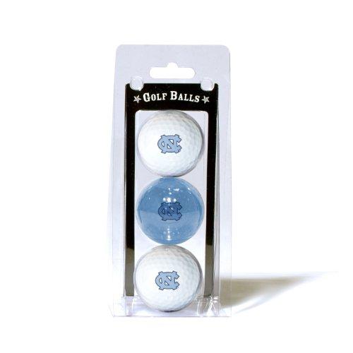Team Golf NCAA North Carolina Tar Heels Regulation Size Golf Balls, 3 Pack, Full Color Durable Team Imprint