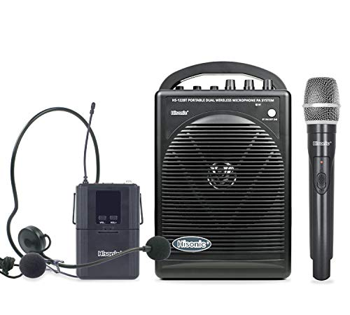 Hisonic HS122BT-HL Portable and Rechargeable PA System with...
