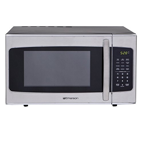 Emerson MWG1337SB, 1.3 CU. FT. 1000 Watt, Touch Control, Stainless Steel Microwave Oven