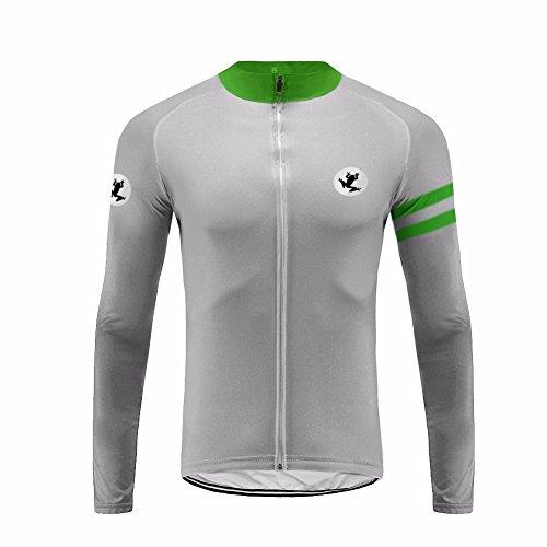 Uglyfrog HDWLJT17 Herren Radfahren Jacke-Winter Fleece Thermo Lange Ärmel Fahrradtrikot Sportbekleidung Masse Stil