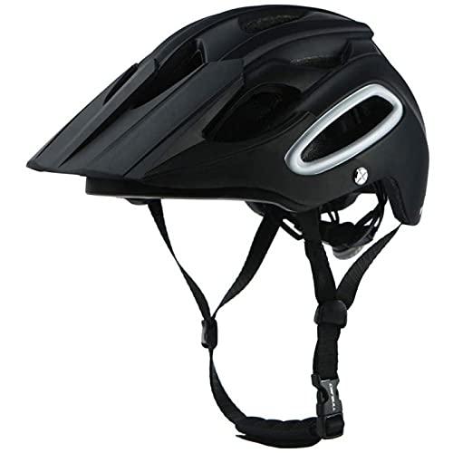 SONG Casco de Bicicleta, Protección de Seguridad Ajustable, Liviana y Fácil de Colocar con Visera Desmontable para Patineta Seguridad en Bicicleta de Carretera de Montaña,Black-M(54-58CM)