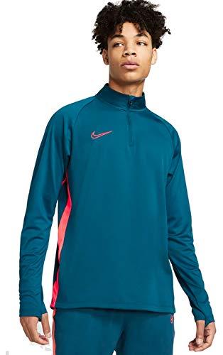 Nike Dry Academy Dril, Felpa Uomo, Valerian Blue/Laser Crimson, XXL