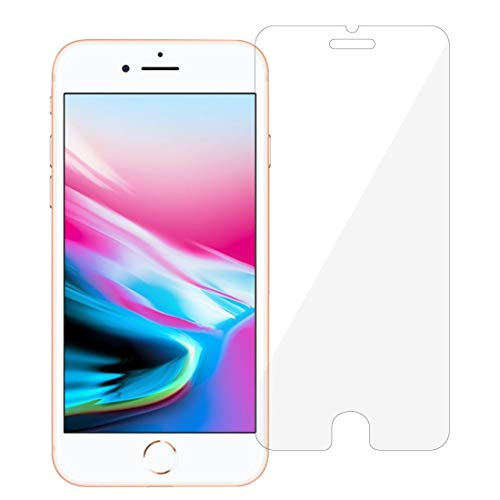 Hanye iPhone 8 / 7対応 4.7インチ用液晶保護強化ガラスフィルム スマートフォン ガラスフィルム 硬度9H 3D Touch対応 2.5D ラウンドエッジ加工(iPhone8)
