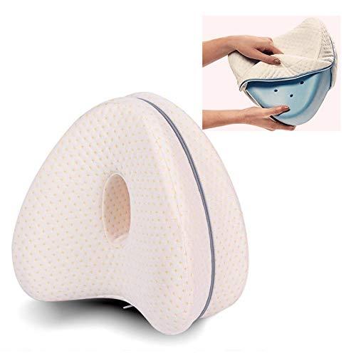 Yidaxing Kissenbezug in Herzform, austauschbarer Kissenbezug für Kissen, Baumwolle, orthopädische Beine, Kissenbezug für Knie, Weiß (Kissen nicht im Lieferumfang enthalten)