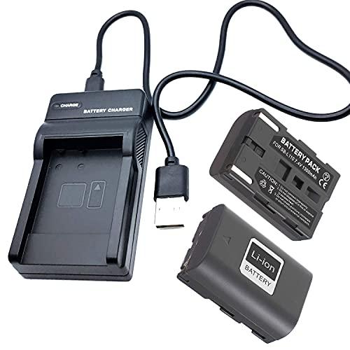 F-MINGNIAN-SPRING Kit de cargador de batería rápido para cámaras USB, compatible con Samsung SC-D6040, SC-D6550, accesorios de videocámara digital (color 2 pilas y 1 cargador USB)