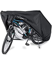 SKEIDO Waterproof Bike Cover Heavy Duty Oxford Bicycle Cover with Double stitching & Heat Sealed Seams, Protection from UV Rain Snow Dust for Mountain Road Electric Bike Hybrid Outdoor Storage