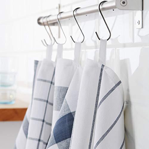 IKEA ELLY 4er Set Geschirrtuch in weiß/blau