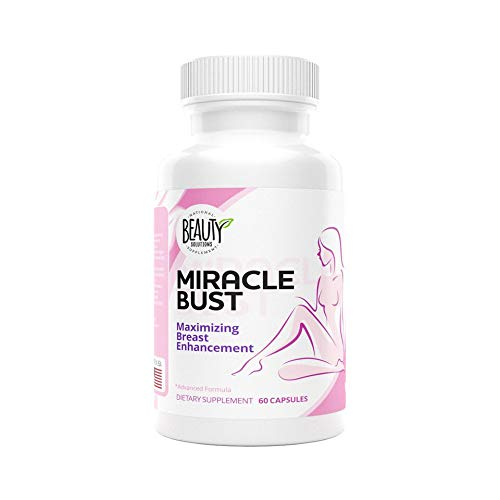 National Beauty Solutions- Miracle Bust- Safe and Effective Breast Enhancement Pills - Augmentation Alternative- Bust Enhancement - Enhance Appearance and Size of Breasts Naturally and Effectively