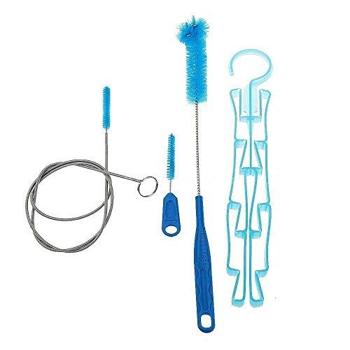 yosoo 4 en 1 multifonction d'hydratation Sac d'eau vessie de nettoyage et séchage Kit de Tube flexible ventouse nettoyant pour pinceaux de séchage