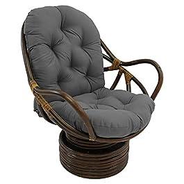 Cyhamse Coussin pour fauteuil suspendu – Coussin pour fauteuil suspendu – En rotin synthétique – Coussin de dossier…