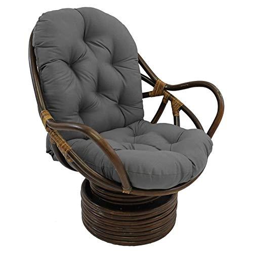 Cojín de silla de balancín giratorio, cojín de 48 x 24 pulgadas para sillón giratorio de salón, silla de balancín sólido de 5 pulgadas gruesas, cojín de rockero giratorio para muebles para el hogar