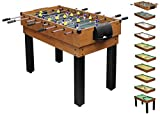 1PLUS Comprehensive multi-functional play table Multi-function table football table (10 in 1) for the whole family