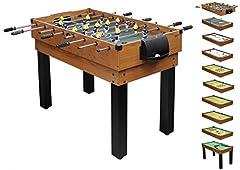 1PLUS vaste table de jeu multifonctions table de baby-foot (10 en 1) pour toute la famille
