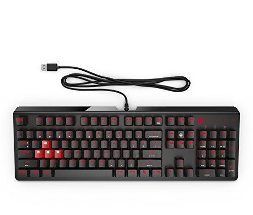 OMEN 1100 Gaming Tastatur (QWERTZ, kabelgebunden, LED-Beleuchtung) schwarz