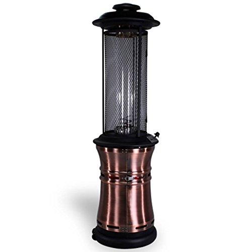 Traedgard Gas Heizstrahler Milano Kupfer mit Glasröhre 190 cm, versenkbar, mit Schutzhülle, Rollen und Gastroset, 65590 - 2