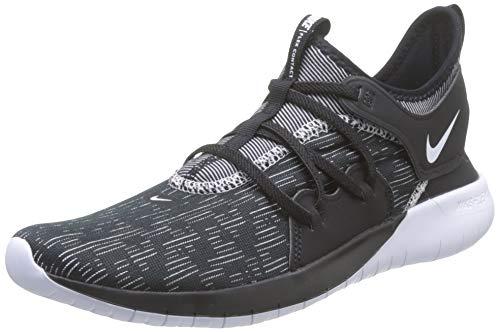 Nike Men's Flex RN 2019 Running Shoe (9 M US, Black/White)