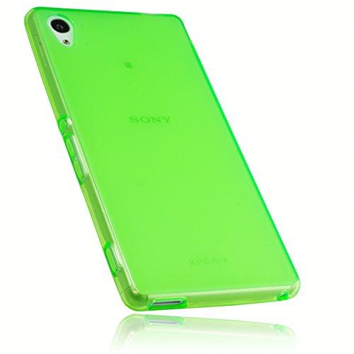 mumbi Hülle kompatibel mit Sony Xperia M4 Aqua Handy Hülle Handyhülle, transparent grün