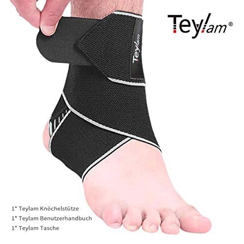 Teylam Knöchelbandage, Einstellbares Sprunggelenkbandage, Flexible Fußbandage, Ultra Dünn Knöchelstütze, Erhöht die Zirkulation und Erleichtert Schwellung, Laufen Fussball, Rechte und Linke Fußgelenk