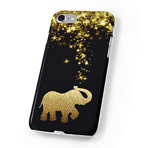 uCOLOR Case Compatible iPhone 6S 6 iPhone 8/7 Cute Protective Case Black Gold Glitter Elephant Slim Soft TPU Silicon Shockproof Cover Compatible iPhone 6s/6/7/8(4.7')
