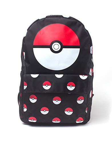 Nintendo POKEMON Pokeball All-over Print Backpack, Multi-colour (BP302831POK) Sac à dos loisir, 28 cm, 20 liters, Multicolore (Multicolour)