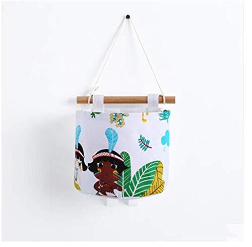 Wall hanging bag dormitory storage bag bathroom roll paper hanging basket multi-layer storage hanging bag, white (A)