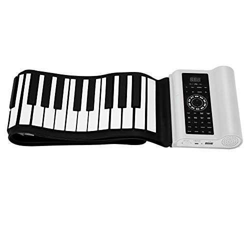 Vogvigo 88 Keys Roll Up Digital Piano,Tragbare Tastatur mit 80 Modellmusik 140 Ton 128 Rhythmus,Unterstützung Bluetooth,Bestes Geschenk für Kinder,Anfänger,Familie,Freunde