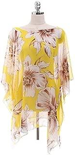BEESCLOVER Women Chiffon Thin Sunscreen Print Beach Bikini Blouse Cover Head Swimsuit Polyester New Beachwear for Summe C0620*30