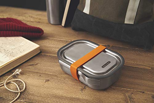 Product Image 5: Black+Blum Stainless-steel Lunch Box   Leak-proof Oven Safe Plastic Free Meal Prep Lunch Food Container, Orange, 1000ml / 34 fl oz