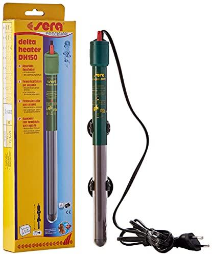 Sera - Termoriscaldatore per Acquario, Resistente allo Shock Termico, in Versione particolarmente Sottile, con Protezione antisurriscaldamento