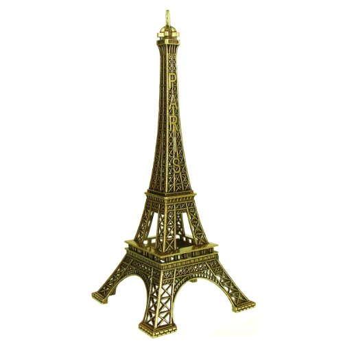 Souvenirs de France - Tour Eiffel Miniature Métal - Couleur : Bronze (10 cm)