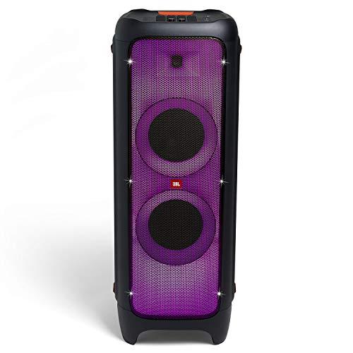 JBL Partybox 1000 – Enceinte Bluetooth puissante avec effets lumineux et bracelet LED DJ soirée – Prise USB & entrée jack pour guitare ou micro – Noir