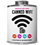 CANNED WIFI in a funny quart gift can with screw cap. Hilarious gag gift for dad, mom, men, women, husband, wife. Great reception everywhere and 100% laughter guaranteed. (1-Can Pack)