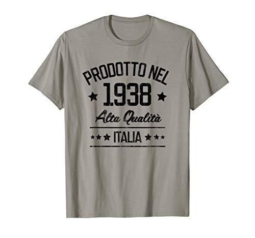 Compleanno per Italiani di 83 Anni Prodotto nel 1938 Italia Maglietta