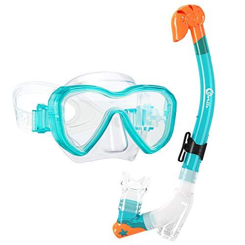 Dorlle Kids Snorkel Set Snorkel Mask with Premium Dry Snorkel and Anti-Fog Anti-Leak Diving…