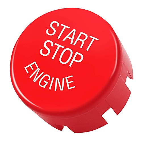 TTCR-II Sports Red Start Stop Engine Switch Button Compatible with BMW, Engine Power Ignition Replacement (Fits: BMW 1 2 3 4 5 6 7 X1 X3 X4 X5 X6/ F30 F10 F01 F15 F25 G30 G31 G11 G12)