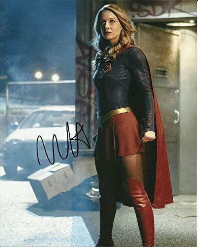 Melissa Benoist firmó 10x8 en color Foto - Supergirl - Glee - Concesionario Autógrafo en Persona - UACC Registrado #242