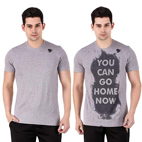 "Ninetynine Degree MotivationActivated ""You Can Go Home Now"" Workout T-Shirt for Men's Grey"