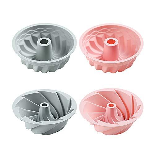 LFJG Silikon-Kuchenformen Zum Backen, 4-Teilige Backformen, Antihaft- Und Schnellwechsel-Silikon-Tortenform Für Käsekuchen, Regenbogenkuchen Und Chiffon-Kuchen