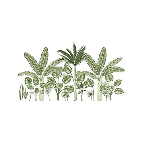 Pegatinas de pared de plantas tropicales para sala de estar, dormitorio, sofá, TV, fondos, calcomanías de pared, murales artísticos extraíbles, decoración del hogar