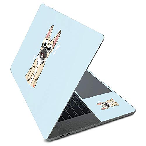 MightySkins Skin for Apple MacBook Pro 16' (2020) - Frenchie Love | Protective, Durable, and Unique Vinyl Decal wrap Cover | Easy to Apply, Remove, and Change Styles | Made in The USA