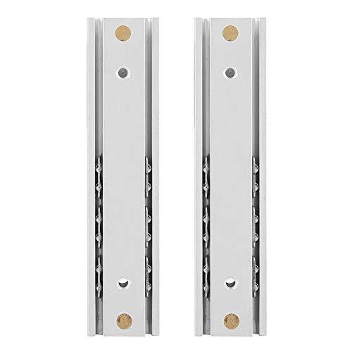 2 Unids/Set Diapositivas de Cajón Aleación de Aluminio Rodamiento de Bolas Gabinete Corredera Suave Extensión Completa Montaje Lateral Corredera(70mm)